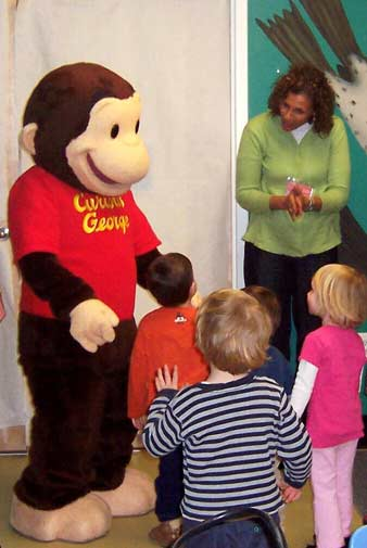 Curious George at the Children's Museum of New Hampshire